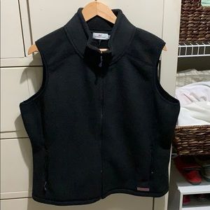 Vineyard Vines Fleece Westerly Vest Black Size XL